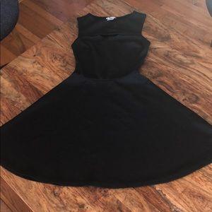 bar III Black skater dress Size small